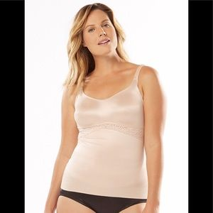 Ruby Ribbon Full Support Cami in Pale Nude - 34
